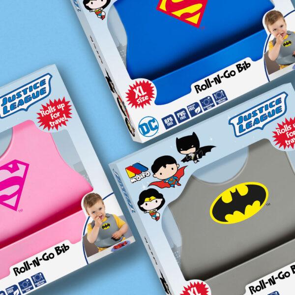 Baberos silicona superheroes