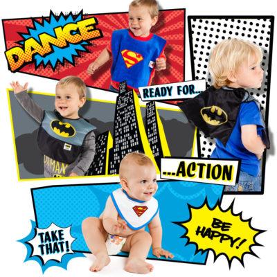 Diseño Grafico Baberos bebe superheroes
