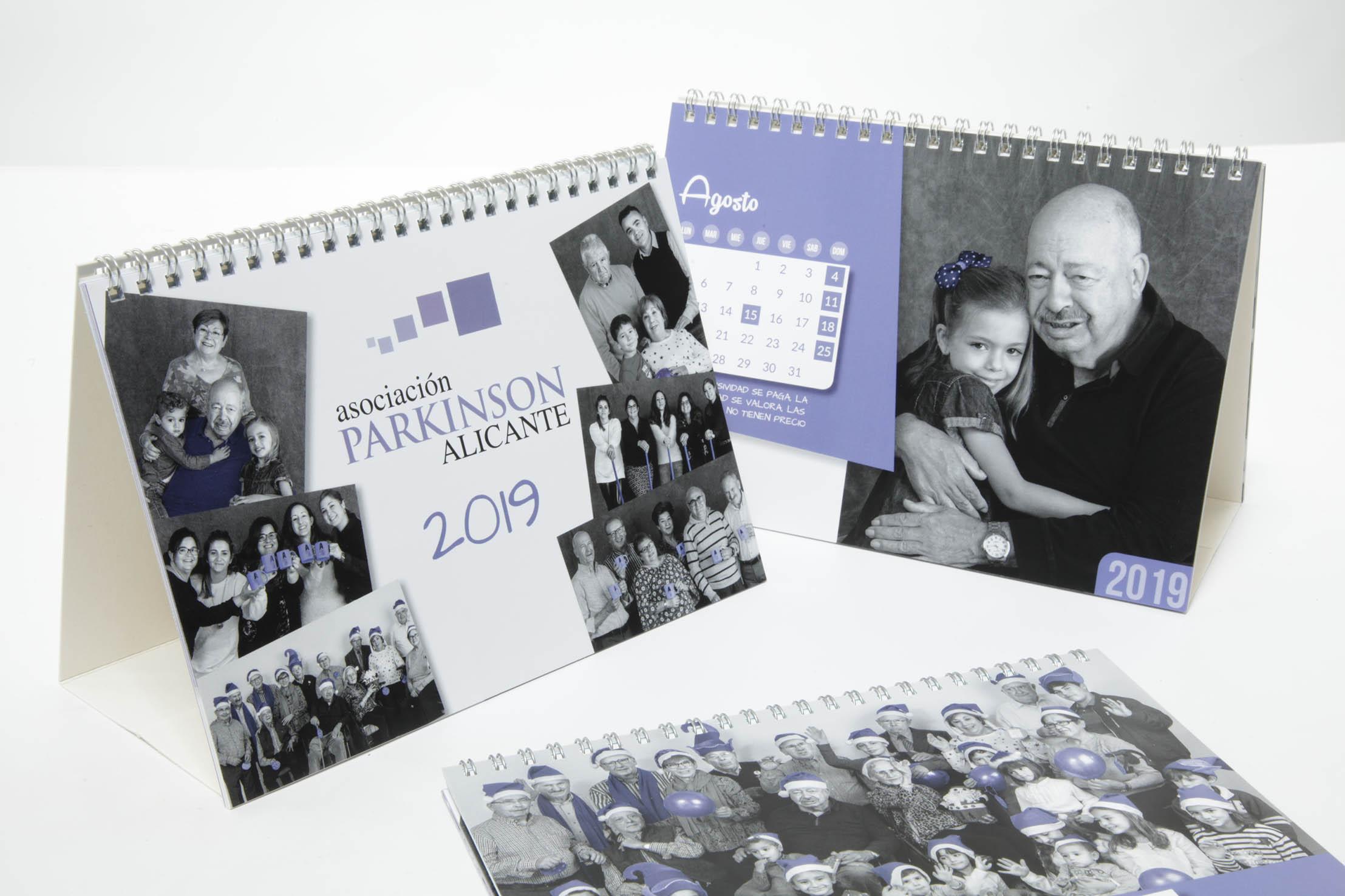 Calendario Solidario Asociación Parkinson Alicante 2019