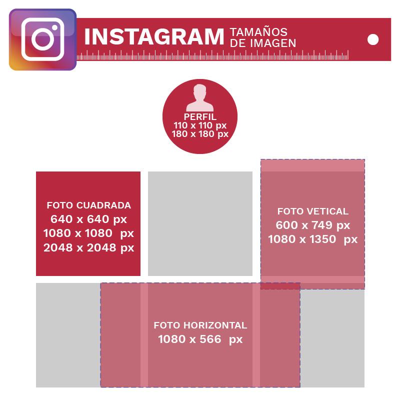 Tamaños de Imagenes para redes sociales Instagram